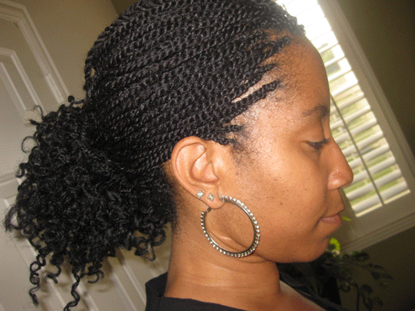Groovy Wearing Braids Or Twist Extensions While Transitioning Short Hairstyles Gunalazisus