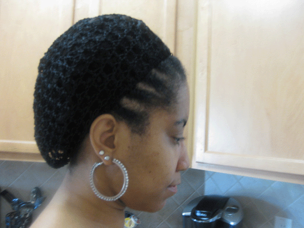 Knit Cap on Transitioning Hair