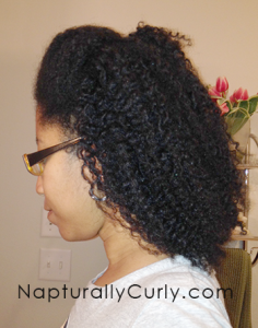 stretched twist out on natural hair