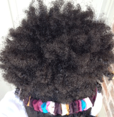 afro puff natural hairstyle