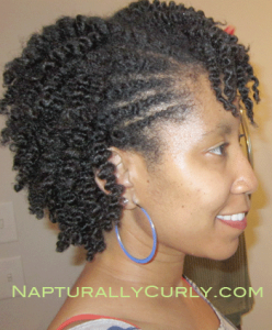 twist out with flat twists