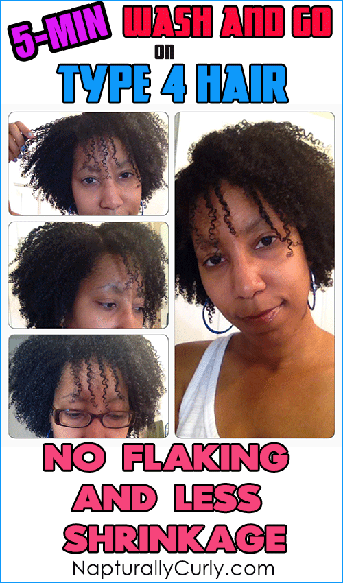 Wash and Go on Type 4 Hair