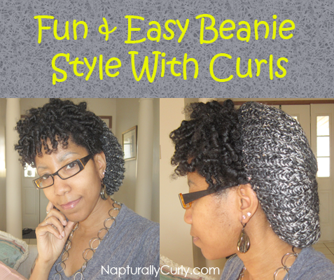 An Easy Beanie Style With Natural Hair