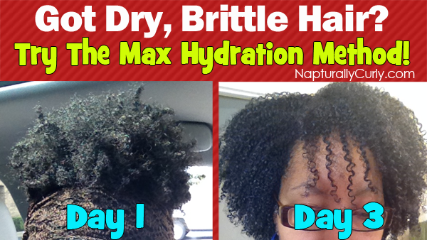 Maximum Hydration Method Results On Type 4 Hair